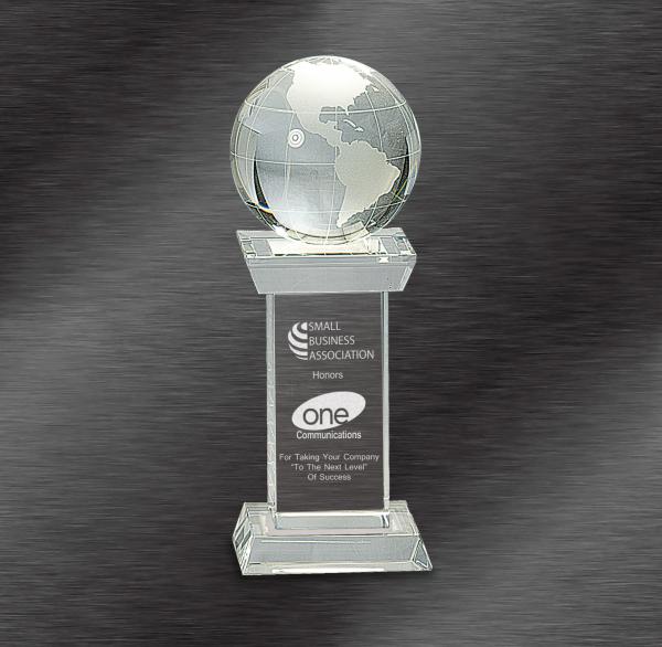 Globe Awards | Crystal Globe on Clear Tower Award
