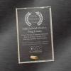 Glass Plaque Award | Clear Rectangle Award
