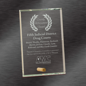 Glass Plaque Award | Clear Rectangle Award