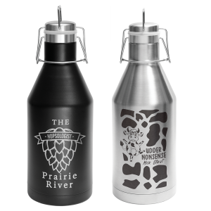 Personalized Growler | Custom Growlers | Black or Silver Stainless Steel