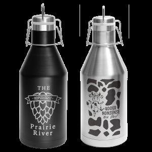 Personalized Growler | Custom Growlers | Black or Silver Stainless Steel