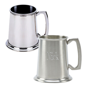 PERSONALIZED PEWTER TANKARDS