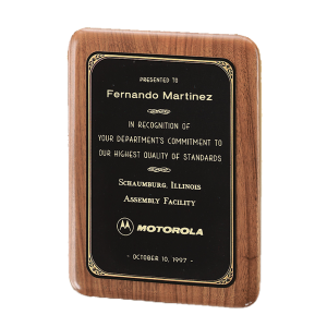 Wooden Wall Plaque | Solid American Walnut Plaque