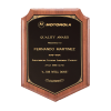 Solid American Walnut Shield Plaque Detailed Border