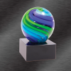Two Tone Sphere Award Blue Green