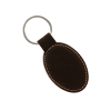 Black Gold Oval Keychain