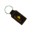 Black Gold Rectangle Keychain