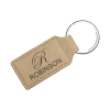 Light Brown Rectangle Keychain