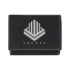 Personalized Black Silver Tri Fold Wallet