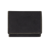 Personalized Black Gold Tri Fold Wallet
