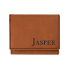 Personalized Saddle Tri Fold Wallet