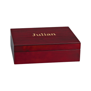 Personalized Wooden Keepsake Box | Rosewood