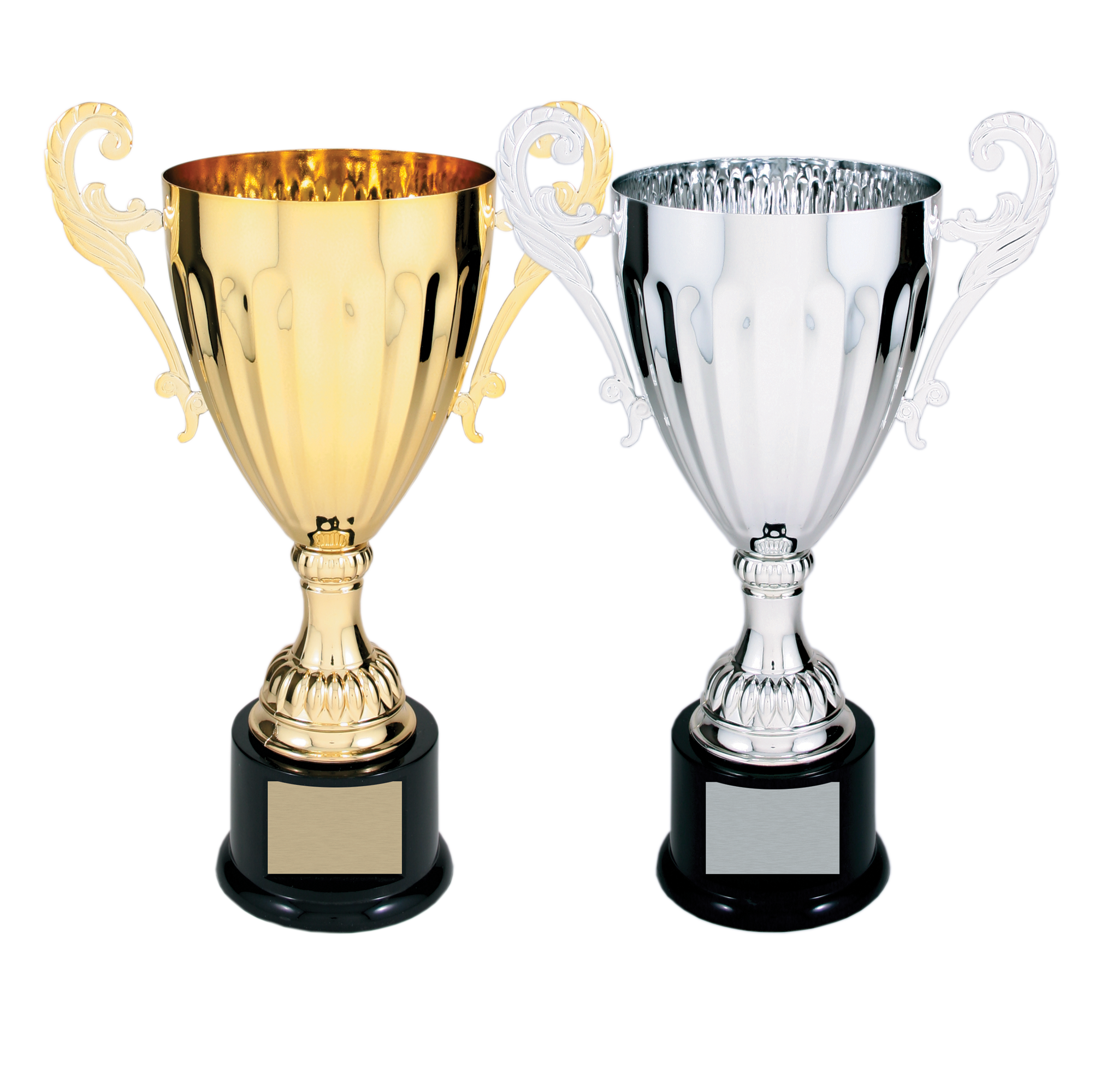 Trophy Cup | 12″ Metal | Gold or Silver