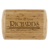 Monogrammed Cutting Board | Bamboo with Grooved Edge