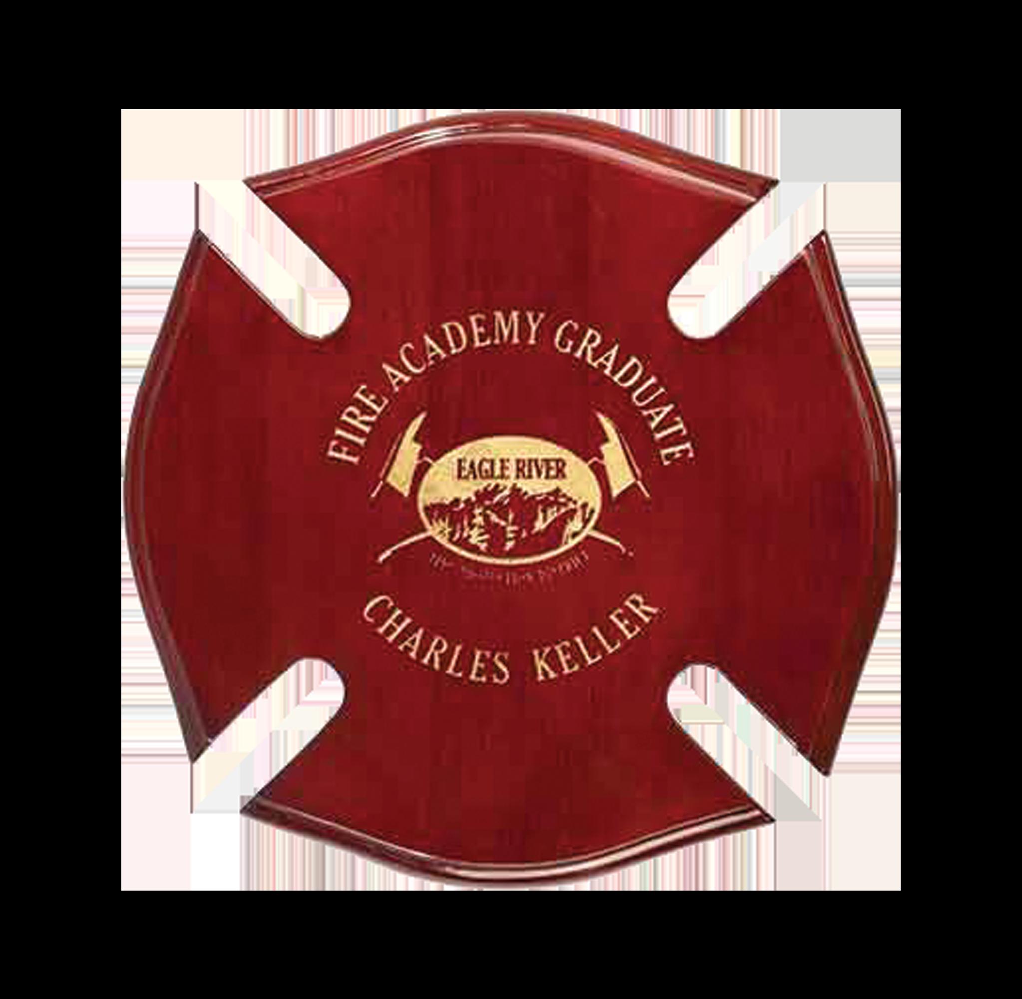 Firefighter Maltese Cross Plaque
