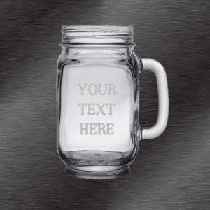 Custom Mason Jar Cups, 12 oz | Mason Jar Wedding Favors